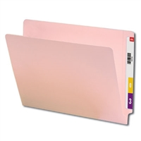 "Smead Colored End Tab Folders, Letter Size, 3/4"" Exp, No Fastener, 11pt Pink, 100/Bx"