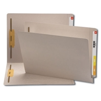 "Smead Colored End Tab Folders, Letter Size, 3/4"" Exp, Fastener Pos 1/3, 11pt Gray, 50/Bx"