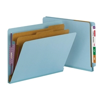 Smead End Tab Pressboard Classification Folder with SafeSHIELD 10/Bx (26781)
