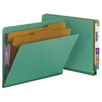 Smead End Tab Pressboard Classification Folder with SafeSHIELD 10/Bx (26785)