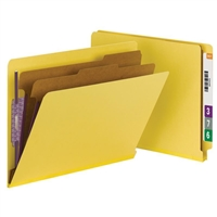 Smead End Tab Pressboard Classification Folder with SafeSHIELD 10/Bx (26789)