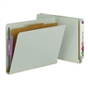 Smead End Tab Pressboard Classification Folder with 1 Divider (26800)