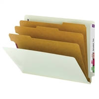 Smead End Tab Pressboard Classification Folder with SafeSHIELD 10/Bx (26820)