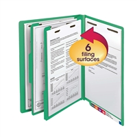 "Smead End Tab Classification File Folder, 2 Divider, 2"" Exp, 10/Bx (26837)"