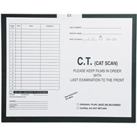 Radiology Insert Jackets, C.T. Scan, Open Top, 14-1/4 H x 17-1/2 W 250/BX