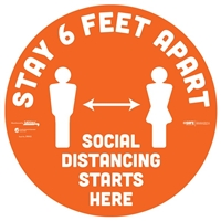 Stay 6 Feet Apart Floor Sticker 29002