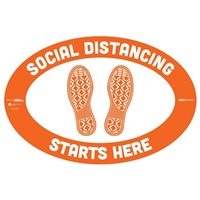 Social Distancing Starts Here Floor Sticker 29003