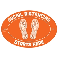 Social Distancing Starts Here Floor Sticker 29004