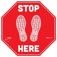 Stop Here Floor Sticker 29006