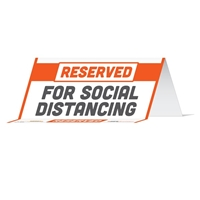 Reserved For Social Distancing Table Tent 29033