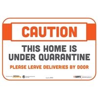 Caution This Home is Under Quarantine Sticker 29051