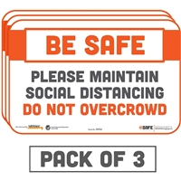 Please Maintain Social Distancing Do Not Overcrowd 29054