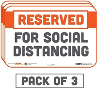 Reserved for Social Distancing Sticker 29055