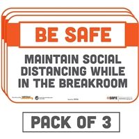 Maintain Social Distancing While In The Breakroom Sticker 29056