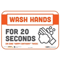 Wash Hands For 20 Seconds Wall Sticker 29057
