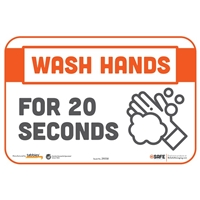 Wash Hands For 20 Seconds Wall Sticker 29058