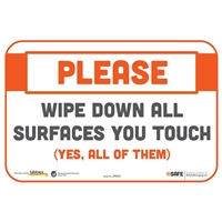 Wipe Down All Surfaces You Touch Wall Sticker 29063