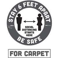 Social Distancing Carpet Decal 29201