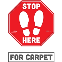 Social Distancing Carpet Decal 29202