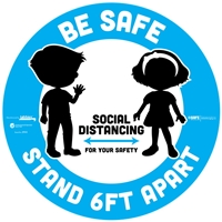 BeSafe Messaging Floor Decal Kids 29513