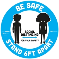 BeSafe Messaging Floor Decal Kids 29551