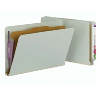 Smead End Tab Pressboard Classification Folder with 1 Divider (29800)