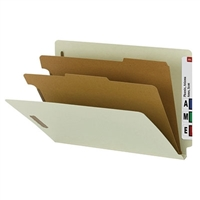 Smead 100% Recycled End Tab Classification Folder, Legal (29802)