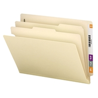 "Smead End Tab Classification File Folder, 2 Divider, 2"" Exp, 10/Bx (29835)"