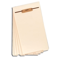 Smead Folder Divider with Fastener, Bottom 1/5-Cut Tab, Legal (35650)