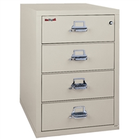 FireKing Card Check Note Cabinet 4-Drawer (4-2536-C)
