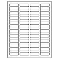 1/2 x 1-3/4 Blank White Labels | Part No. 40150
