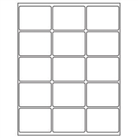 2 x 2-11/16 Blank White Labels | Part No. 40152