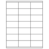 1-1/2 x 2-13/16 Blank White Labels | Part No. 40153