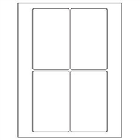 5 x 3 Blank White Labels | Part No. 40154
