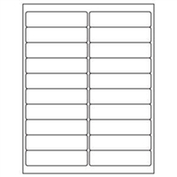 1 x 4 Blank White Labels | Part No. 40156