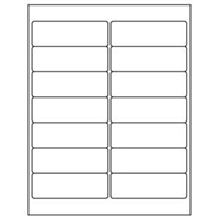 1-1/3 x 4 Blank White Labels | Part No. 40157