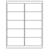 2 x 4 Blank White Labels | Part No. 40158
