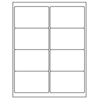 2-1/2 x 4 Blank White Labels | Part No. 40159