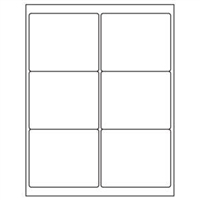 Part No. 40160 3-1/3 x 4 Blank White Labels