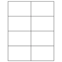 2-3/4 x 4-1/4 Blank White Labels | Part No. 40161