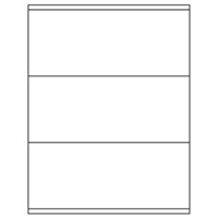 3-1/2 x 8-1/2 Blank White Labels | Part No. 40163