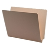 "18pt File Folders, End Tab, Letter Size, 9-1/2""H Front, No Fasteners, Manila, 50/Box"
