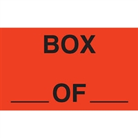 Box__of__Labels, 3 x 5, Fluorescent Red, 500/RL