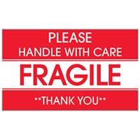 Please Handle with Care / Fragile / **Thank You** Label 43574 (500/Roll)