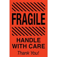 Fragile Handle with Care Thank you! Label 43575 (500/Roll)