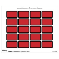 Exhibits-U-Create 48093, Blank, 1-5/8 x 1, Red, 240/Pack