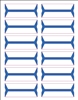 Acme Abgor Compatible Wrap-Around File Folder Labels, Blue