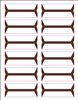 Acme Abgor Compatible Wrap-Around File Folder Labels, Brown
