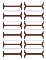 Wrap-Around Name Labels Brown Pack/240
