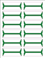 Wrap-Around Name Labels Green Pack/240